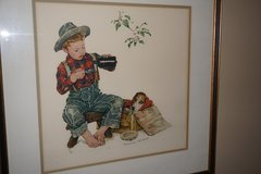 NORMAN ROCKWELL HAND SIGNED LITHOGRAPH in Palatine, Illinois