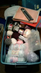 2 totes brand new yarn scanes, accessories as well as various amounts in St. Louis, Missouri