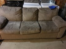 brown microfiber couch in New Lenox, Illinois