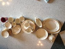 Gold trimmed dishes in Okinawa, Japan