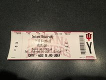 Indiana vs Michigan football ticket in Yorkville, Illinois