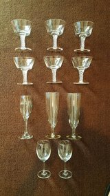 Assorted antique stemware lot in Okinawa, Japan