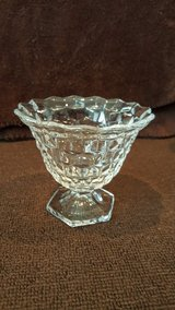 Fostoria American Clear hex footed candy dish in Okinawa, Japan