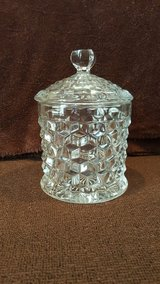 Antique Fostoria American Clear Cookie Jar and Lid in Okinawa, Japan