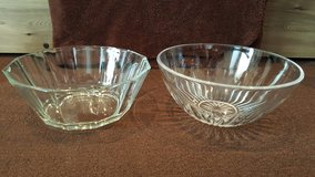 Glass fruit bowl and punch bowl lot in Okinawa, Japan