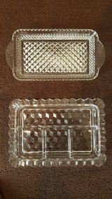 Antique Fostoria American Clear rectangular dish lot in Okinawa, Japan