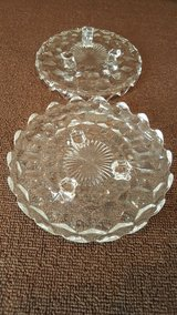 Antique Fostoria American Clear 3-footed dessert dishes in Okinawa, Japan