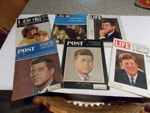 Vintage Life, Look, and Post Magazines of John F. Kennedy Lot of 6 in Hopkinsville, Kentucky
