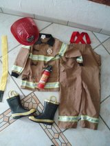 Fireman costume size 4-5 dress up fasching in Stuttgart, GE