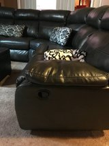 Black leather sectional in Bolling AFB, DC