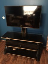 "42"" smart tv w/stand and soundbar in Fort Polk, Louisiana"