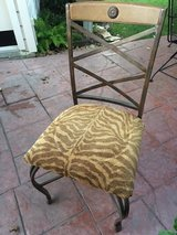Wood/ Iron Tiger Print Chair (Free delivery 5 mile radius) in Kingwood, Texas
