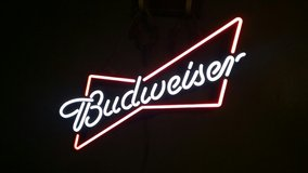 Budweiser Lighted Sign in Liberty, Texas