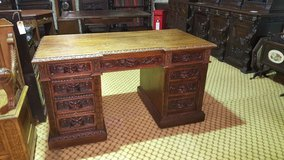 Green Man Carved Oak Desk Free Delivery others available in Lakenheath, UK