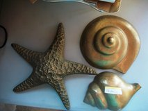 Set of 3 Heavy Brass Shell Design Hangings in Alamogordo, New Mexico