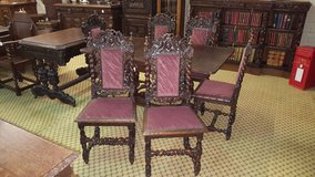 Set of 6 Carved Oak Chairs other sets available in Lakenheath, UK