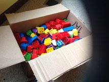 Big box of Mega Bloks/ Duplo Blocks in Bartlett, Illinois