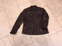 Leather jacket (genuine leather) Zipper and press studs (OK) in Ramstein, Germany