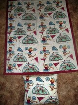 NEW HANDMADE Large  Little Girl's Cheerleading QUILT with Matching Pillow in Alamogordo, New Mexico