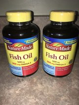 Nature Made Fish Oil 1200mg Omega 3 EPA & DHA Softgels - BRAND NEW - 2 bottles for sale in Oswego, Illinois