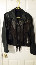 Vintage fringed Leather Jacket in Beaufort, South Carolina
