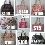 9 Authentic Coach Purses One Owner excellent cond in Kingwood, Texas