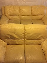 Leather couch/sofa and loveseat set in Oswego, Illinois