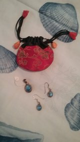 Silver and Blue earring set in Beaufort, South Carolina