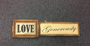 Love Generously sign in Travis AFB, California