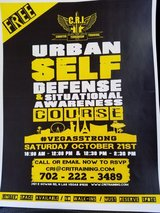 Free self defense on Oct 21 2017 in Nellis AFB, Nevada