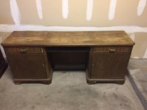 solid wood old desk. in Alamogordo, New Mexico