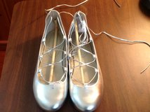 Silver Ballet Flats-- woman's shoe size 8.5 in Fairfax, Virginia