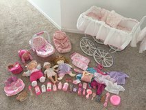 Doll carriage, dolls and clothes in Fort Lewis, Washington