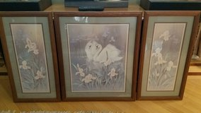 Vintage Home Interiors Swan Print 3-piece in Plainfield, Illinois