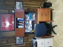 Desk hutch and chair in Fort Leonard Wood, Missouri