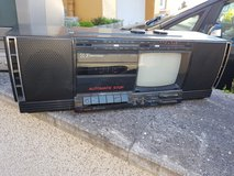 Emerson portable B&W TV / boombox 110v in Ramstein, Germany