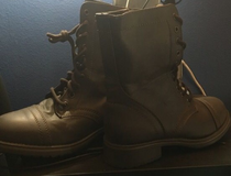 Mossimo brown boots in Nellis AFB, Nevada