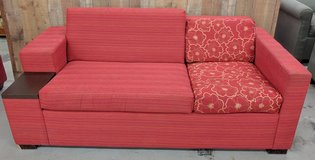 MODERN RED AND FLORAL COUCH in Camp Lejeune, North Carolina