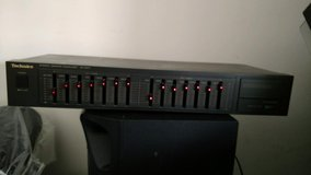 Technics SH-8017 Stereo Radio Graphic EQ Equalizer 7 Band 2 Channel Tape Select in Fort Campbell, Kentucky