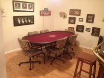 Large Poker Table and 6 Chairs in Fort Knox, Kentucky