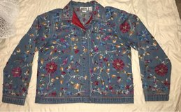 Chico's Design Jean jacket with embroidered details in Spring, Texas