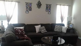 BROWN SECTIONAL WITH CHAISE ON ONE END in Fort Drum, New York