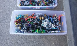26 Bionicles and a large tub of bionicle parts in Yucca Valley, California