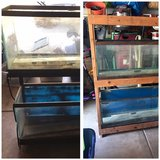 4, 30 gallon aquariums with stands and glass tops in Elgin, Illinois
