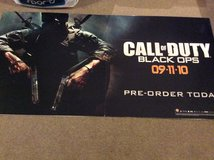 Promotional call of duty black ops sign. in Lakenheath, UK