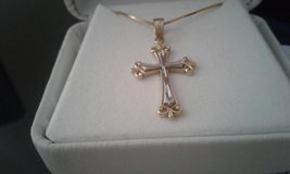 14k Gold Cross Necklace in 29 Palms, California