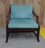 TEAL BLUE AND BROWN CHAIR in Cherry Point, North Carolina