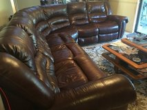 Leather Reclining Modular Sectional in Tampa, Florida