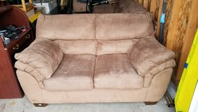 PRICE REDUCED!!! COUCH & LOVESEAT SET, Brown Micro-suede in Fort Lewis, Washington