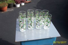 8 NEW LIBBEY  CHRISTMAS HOLLY  DRINKING GLASSES in Bartlett, Illinois
